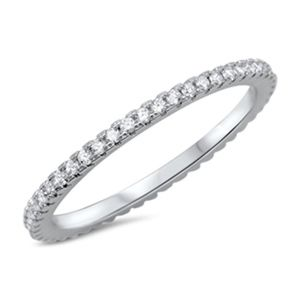 Jewelry - Sterling Silver 925 Eternity Ring With CZ